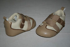 Free Shipping Childrens Place Baby Boys Size 0-6 Months Brown Soft Sole Shoes