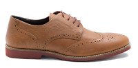 Mens Red Tape Brickhill Milled Honey Tan Leather Smart Lace Up Brogue Shoes 7-11