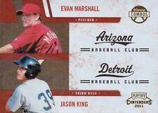 2011 Playoff Contenders Winning Combos #14 Jason King Evan Marshall