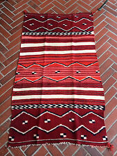 "OLD VINTAGE NAVAJO CHILD BLANKET COCHINEAL INDIGO ""antique textile dye analysis"""