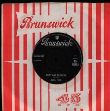 "Burl Ives(7"" Vinyl)How Do You Fall Out Of Love/ Mary Ann Regrets-Brunsw-VG/VG+"