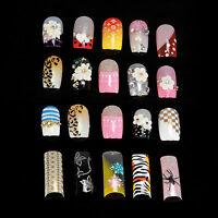 Multi-Color 100pcs False Acrylic Gel French Nail Art Tips Salon With Box SET