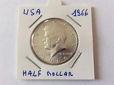 Pièce en argent USA 1/2 dollar Kennedy 1966 TTB