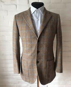 SARTORIO NAPOLI Men's Sport Blazer Jacket Check Size 48 Made in Italy!