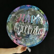 20'' Transparent Bubble Balloon With Happy Birthday Wedding Birthday Decor HOT