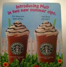Starbucks Malt Frappuccino Mouse Pad **SUPER RARE**Great Collectible, old Logo!!