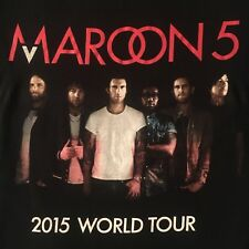 black Maroon 5 t shirt-2015 World Tour-american apparel-Adam Levine-New-(S)