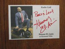 """HASSAN  EL-AMIN (""""Radio  Golf/Seven  Guitars"""") Signed  4 x 6  Color  Photo-Card"""
