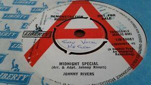 "Johnny Rivers – Midnight Special b/w Cupid UK 7"" Demo  1965"