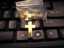 MILITARY HAT PIN - CHAPLAIN CROSS - GOLD
