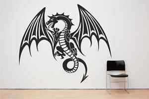 Dragon, Mythical, Flying, Fire Breathing, Monster Gothic Wall decal sticker art.