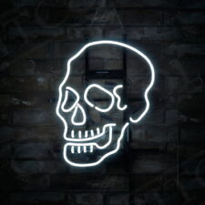 Skull Shape Neon Sign Porcelain Store Home Beer Bar Entertainment Party Decorati