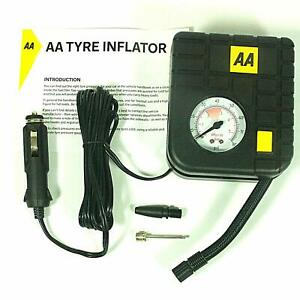 AA Tyre Inflator, Compact and Lightweight Pump Pressure Gauge For Cig Car socket