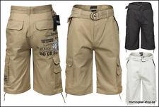 Mahru Herren Cargo Bermuda Shorts m. Gürtel Sommer Kurze Hose Capri Short