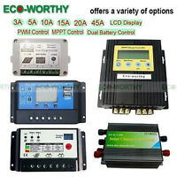 ECO 10A 15A 20A  Solar Charge Controller Home 12/24V Battery Regulator Power
