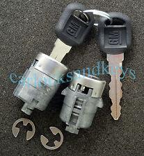OEM Buick Cadillac Chevrolet GMC Olds Pontiac 2 Door Locks Chrome w/ 2 GM Keys