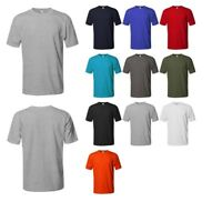 FashionOutfit Men's Basic Short Sleeve Crewneck Cotton T-shirt S-5XL MADE in USA