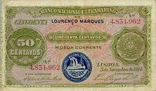 Mozambique P-58 50 centavos 1914 F-VF
