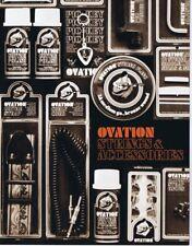 ORIGINAL Vintage 1970s Ovation Strings & Accessories Catalog