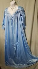 COMFORTABLE ANKLE LENGTH LIGHT BLUE NYLON  NIGHTGOWN  SIZE 5X GIFT