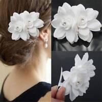 Bridal Wedding Orchid Flower Hair Clip Barrette Brooch Girls Accessories