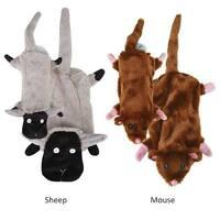 Stuffing Free Dog Toys, Mouse or Sheep, 2 sizes, Barnyard Unstuffies Zanies
