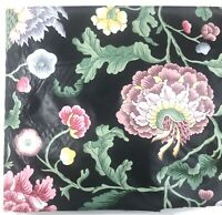 P Kaufmann Chintz Upholstery Fabric Floral Design Black Pink Yellow BY THE YARD
