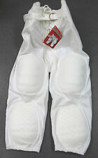 Small S NEW Alleson White Integrated Combination 7 Pad Solo Football Pants