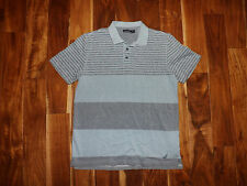 Nautica Men's Short Sleeve Striped Polo Shirt, Tide Blue, Size XL