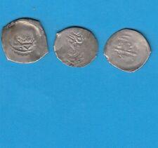 Maroc?? Lot de 3 monnaies islamiques en argent à identifier, pour étude