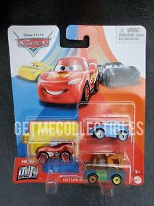 DISNEY PIXAR CARS MINI RACERS COZY CONE MOTELSERIES RADIATOR MCQUEEN 3 PACK $15+