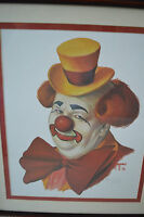 Baby Bobby Clown by Jim Howle Limited Edition 72/2000 Artist Signed Framed Print
