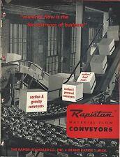 MRO Brochure - Rapids-Standard Rapistan Material Flow Conveyors - c1952 (MR13)