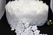 6.5cmVintage Cotton white Crochet Style Scalloped Lace Trim Ribbon decoration