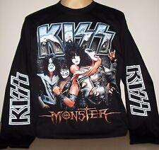 Kiss Monster Manga Larga Camiseta Talla S M L XL 2XL 3XL Banda De Rock! nuevo! XXL XXXL