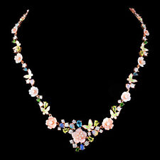 NATURAL OPAL PERIDOT CHROME DIOPSIDE TOPAZ MOP ROSE GOLD SILVER 925 NECKLACE