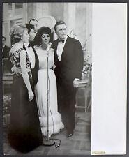 Photo Gina Lollobrigida - Liz Taylor Kirk Douglas - Rome 1961 - Baryté d'époque