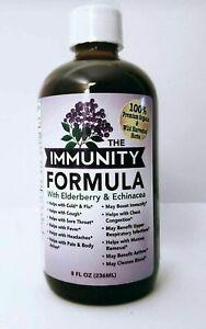 THE IMMUNITY FORMULA with  Elderberry, Echinacea, 100% Organic 8oz Bottle