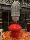 Gamewell Fire alarm box pedestal finial with light, cast iron