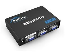 VGA Splitter 2 Port Powered Video Splitter with AC Adaptor