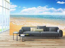 Arena Playa y Mar Tropical 3D Papel Pintado Mural Papel de Pared Fondo Muebles