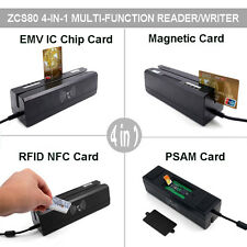 Zcs80 4 in 1 Magnetic Stripe&Ic Emv Chip Smart Rfid,Psam Card Reader Writer+Sdk
