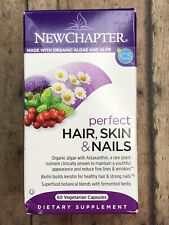 New Chapter Hair Skin & Nails Vitamins with Fermented Biotin, 60ct, EXP 02/2021