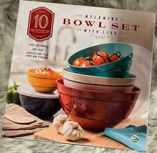 Melamine 10-Piece Mixing Bowl Set with Lids Brand NEW