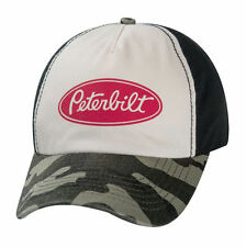 New Peterbilt Distressed Vintage Faded Camouflage Logo Camo Trucker Cap Hat b6d28f8b06d0