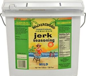 Walkerswood Traditional Jamaican Cuisine Jerk Seasoning Mild Jumbo 128 Ounce