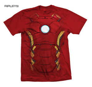 Official T Shirt THE AVENGERS Iron Man Chest Print Marvel Costume
