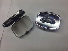 "Morris Minor Series 2 (Split Screen ""Face Lift"") ref164 silver metal pill box"