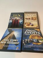 Ten Commandments Bible Stories From The New Testament DVDs Lot of 4