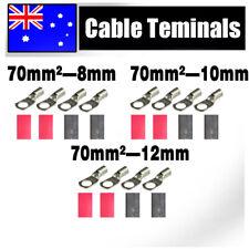 Battery Cable Lead Terminals 70-(8/10/12) Car Invertor Generator 12V 24V Lights